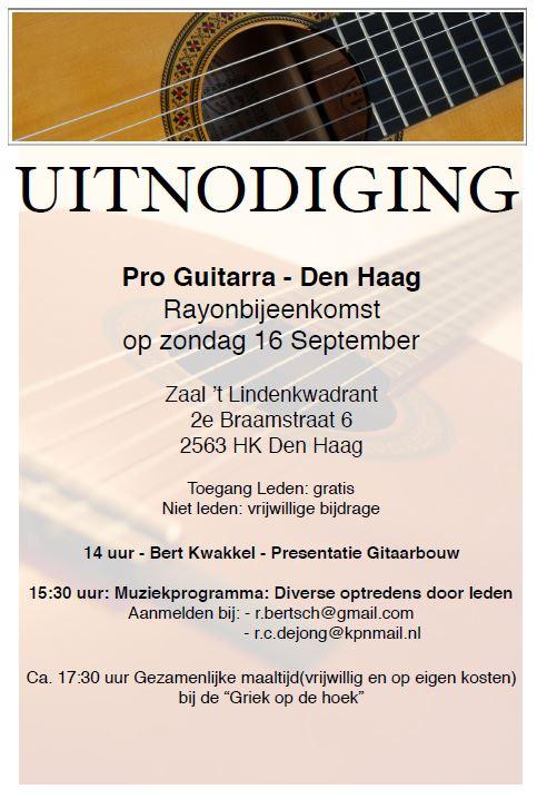 Rayonbijeenkomst Pro Guitarra